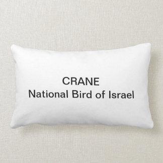 ALMOHADA - GRÚA: Pájaro nacional de Israel