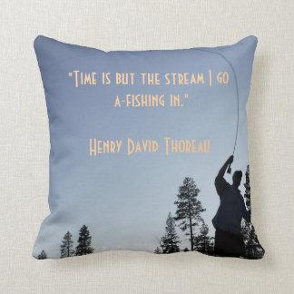 Almohada Henry David Thoreau de la pesca