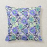 Almohada hermosa, azul y verde