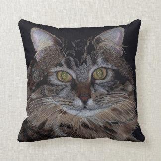 Almohada hermosa del gato de Coon de Maine