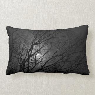 almohada iluminada por la luna negra del lumbar de