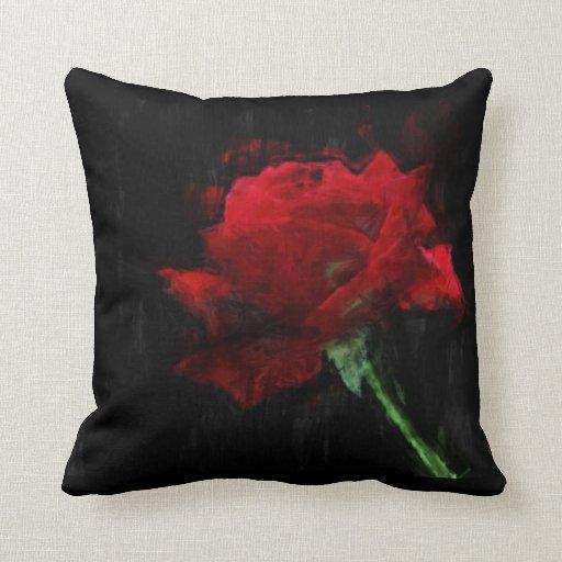 Almohada impresionista de la pintura de las flores