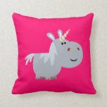 Almohada inescrutable linda del unicornio del