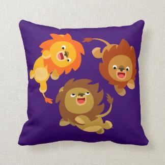 Almohada ingrávida linda de los leones del dibujo cojín decorativo