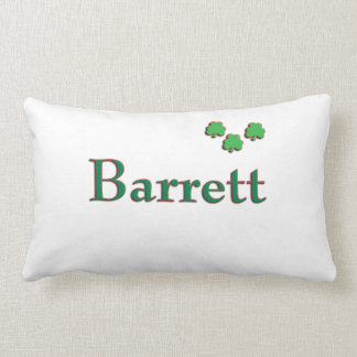 Almohada irlandesa del apellido de Barrett