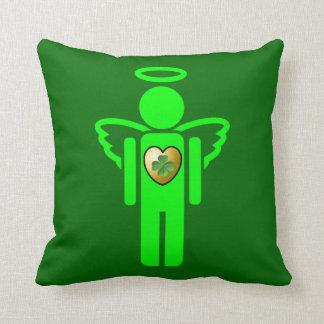 Almohada irlandesa del reversible del ángel