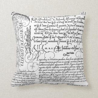 Almohada italiana del arte del vintage de la calig