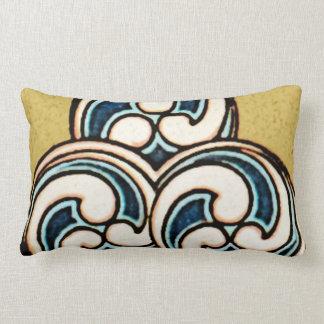 Almohada japonesa china geométrica del diseño del