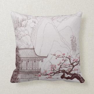 Almohada japonesa de la flor de cerezo