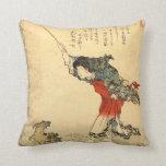 Almohada japonesa del arte del vintage hermoso