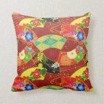 Almohada japonesa oriental abstracta fresca del mo