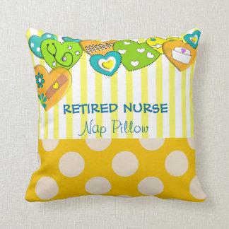 Almohada jubilada caprichosa de la enfermera