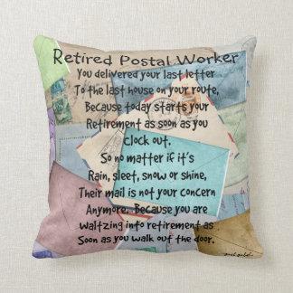Almohada jubilada del poema del empleado de