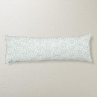 Almohada larga azul de la crema del corazón de las cojin cama