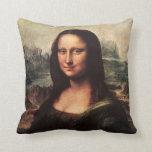 Almohada Leonardo da Vinci de Mona Lisa del vintag