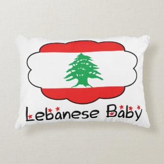 Almohada libanesa de la bandera para el bebé