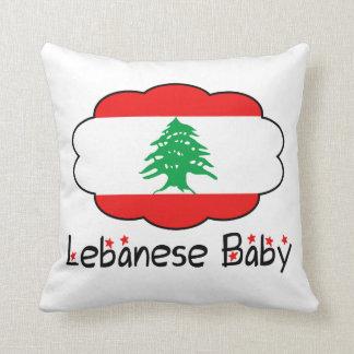 Almohada libanesa de la bandera para el bebé cojín decorativo