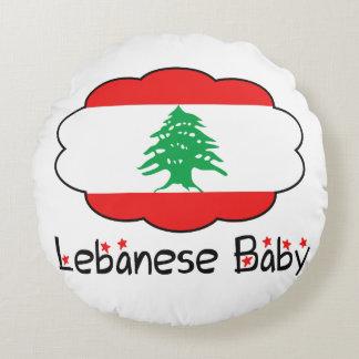 Almohada libanesa de la bandera para el bebé cojín redondo