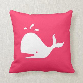 Almohada linda de la ballena Texto y color adapta