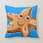 almohada linda de las estrellas de mar del océano