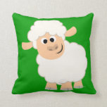 Almohada linda de las ovejas del dibujo animado