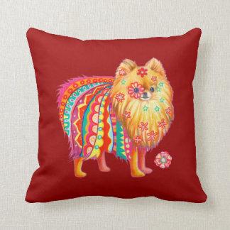 Almohada linda del arte de Pomeranian