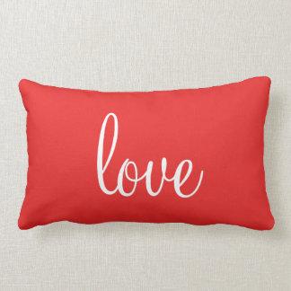Almohada linda roja del amor