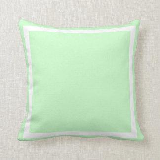almohada llana azulverde del seafoam en colores