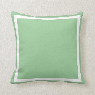 almohada llana azulverde del seafoam en colores pa