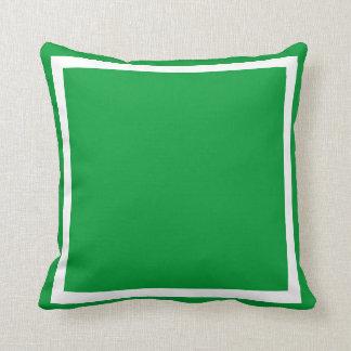 almohada llana verde sólida cojín decorativo