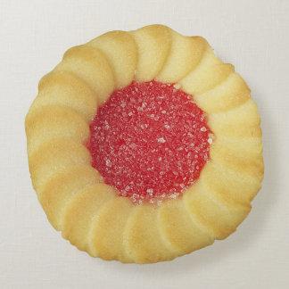 Almohada llenada jalea de la galleta cojín redondo