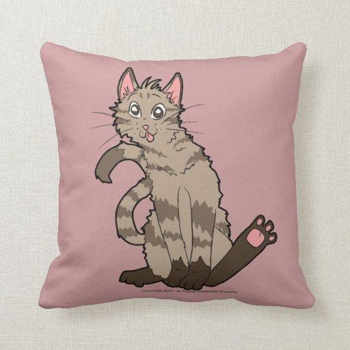 Almohada loca del gato cojín decorativo