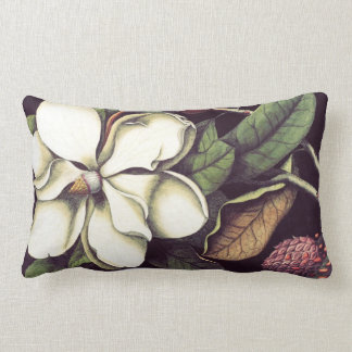 Almohada lumbar decorativa floral de la magnolia b
