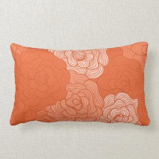 Almohada lumbar, diseño floral de los Doodles en