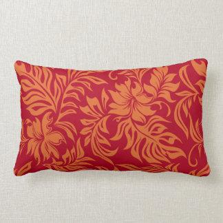 Almohada lumbar reversible hawaiana del hibisco de