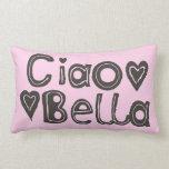 Almohada lumbar rosa clara del Ciao Bella