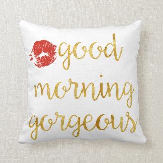 Almohada magnífica de la buena mañana