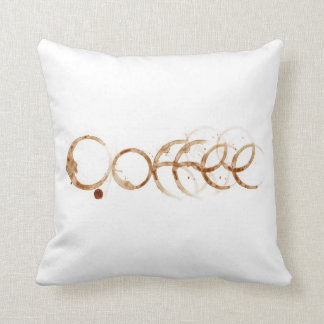 Almohada manchada café