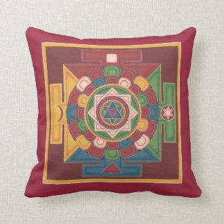 Almohada-Mandala de los 5 elementos de la tierra Cojín