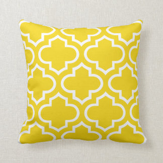 Almohada marroquí del modelo en amarillo limón