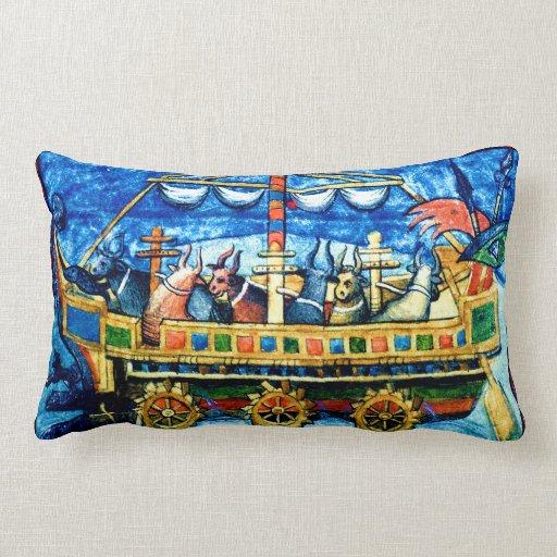 Almohada medieval del arte