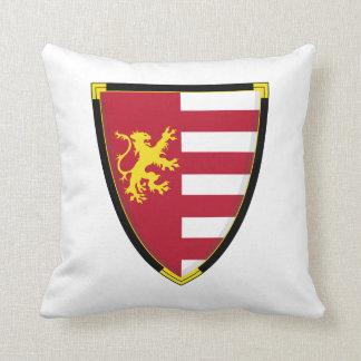 Almohada medieval del escudo del león
