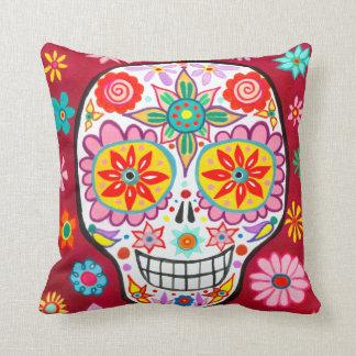 Almohada mexicana del cráneo del azúcar - día de