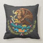 Almohada mexicana del escudo de armas