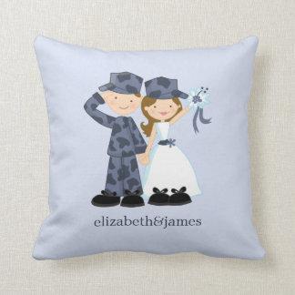 Almohada militar del personalizado del boda del ma