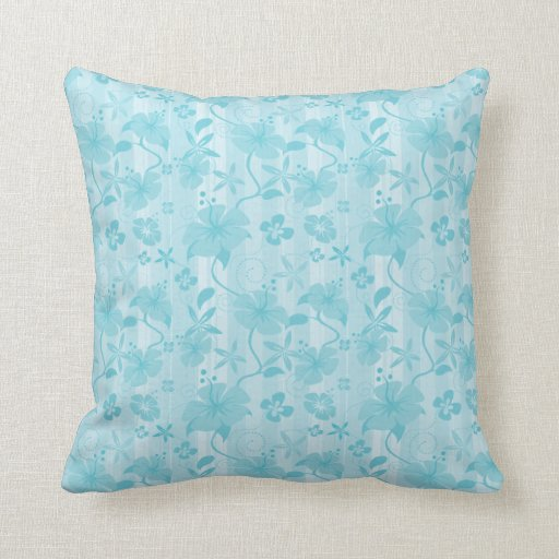 Almohada modelada Hawaiian azul - cuadrado