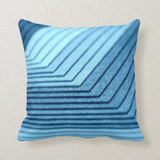 Almohada modelada sombras azules