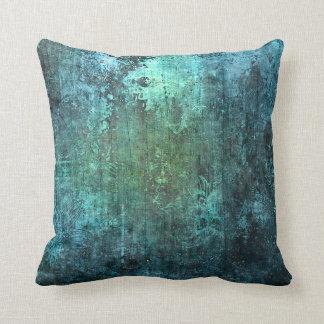 Almohada moderna de piedra envejecida del verde