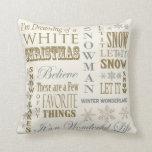 Almohada moderna del navidad blanco del vintage cojín decorativo