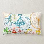 Almohada moderna personalizada del neón de la bici